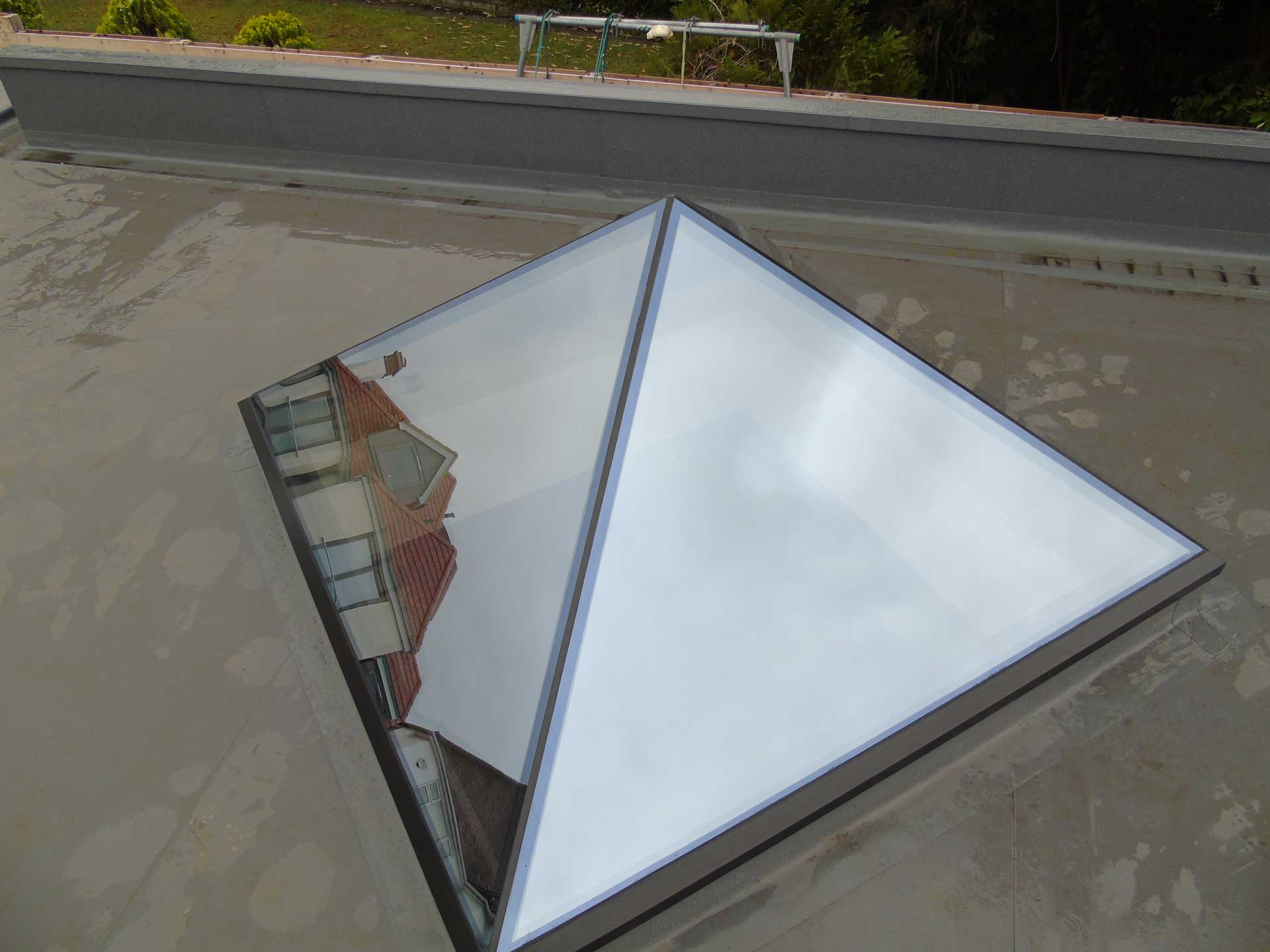Frameless Glass Roof Lantern Surrey London